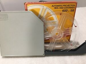 New Dasco 180m / 600ft Auto S8 Projector Reel & Container