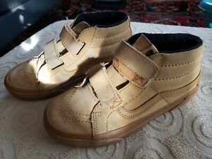 Vans ~ Boys Leather Tan High Top Vans ~ Size 1
