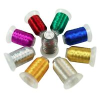 9 Colors Metallic Thread for Computerized Embroidery and Decorative Sewing