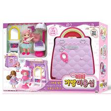 Little Mimi Beauty Salon Toy Set Korean Barbie Doll Bag Toy for Girl Kids