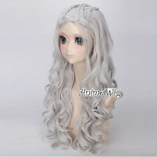 A song of ice and fire Daenerys Targaryen Silber 65CM Anime Perücke Cosplay