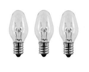 3 Pack Light Bulbs 15W for SCENTSY Plug-In Warmer Wax Diffuser 15 Watt 120 Volts