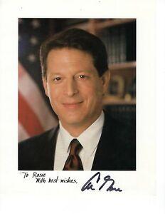 """Vice President Al Gore #1 signed 8"""" x 10"""" Color Photo, COA"""
