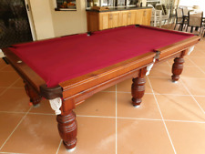 8x4 Slate Pool Table Maroon Felt w/ Fitted Waterproof Cover Excellent Condition