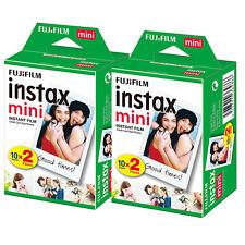 Fujifilm Polaroid Instant Camera Photos Instax Mini Film - 2 Packs (40 Shots)