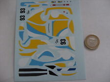 decals decalcomanie bmw calder ghia art car  1/43