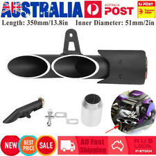 Motorcycle Dual-outlet Exhaust Tail Pipe Muffler Tailpipe Kit For 51mm Pipe