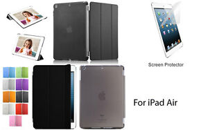 Screen Protector/Tri-fold Ultra Slim Transparent Smart Cover Case for iPad Air