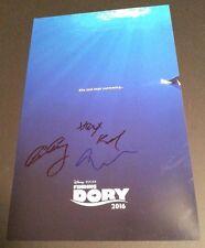"FINDING DORY Cast (x3) Authentic Hand-Signed ""Ellen DeGeneres"" 11x17 Photo"