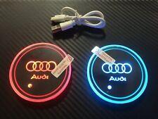 2x led pad tazza auto sotto bicchieri Audi A1 A3 A4 A5 A6 A7 Q2 Q3 Q5 Q7 TT