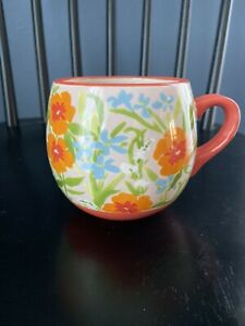 anthropologie coffee cup mug- leah reena gorem floral Mug
