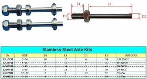 STAINLESS STEEL AXLE KIT