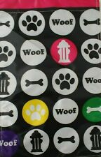 Dog Lover Woof Pawprint Bone Garden Flag Yard Outdoor Decor Double Sided 12×18in