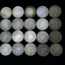 Lot of (20) INDIA BRITISH George VI 1940 - 1945 1/2 RUPEE SILVER COINS  XF-AU