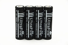 4x UltraFire 18650 3.7V 6000mAh Rechargeable Li-ion Battery For Led Flashlight