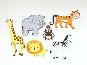 Jungle Safari Animals Papercraft Embellishments Scrapbooking Card Making Crafts