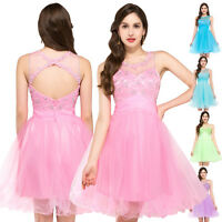 SEXY HOMECOMING Sleeveless Backless Tulle Ball Cocktail Evening Prom Party Dress