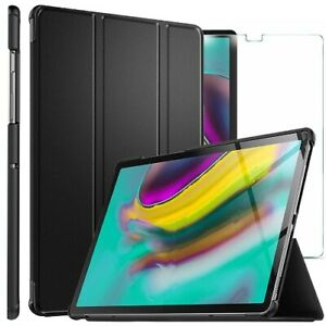 For Samsung Galaxy Tab S5e Smart Case Cover & Glass Screen Protector T720