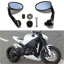 "Motorcycle 7/8"" Handle Bar End Oval Rearview Mirrors For Honda Street Fighter US"
