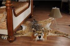 "Fake Faux Fur BOBCAT skin bobcatskin PLUSH RUG SIZE LARGE 72.8""x70.9"" inches new"