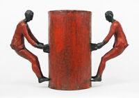 Roberto Barni scultura in bronzo originale Vasomuto Gambe in spalla firmata1/8