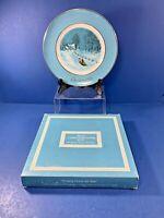 Vintage,1976 Avon Bringing Home The Tree Christmas Plate, Enoch Wedgewood w/ Box