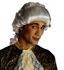 White Chevalier Wig Venetian Medieval Casanova Peruke Prince Charming Fancy Dres