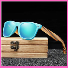 Sunglasses Handmade Frame With Wooden Temples Polarized Mirror Eyewear Fashion