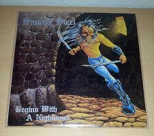 SAVAGE STEEL - Begins With A Nightmare LP 1st.press 1987 RAR # Voivod Coroner