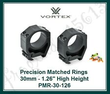 VORTEX Precision Matched Riflescope Rings - 30mm - 1.26 High Height - PMR-30-126