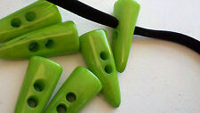 Large Green Horn Shaped Toggle Buttons 12 Pieces 42 mm For Jacket, Home Decor