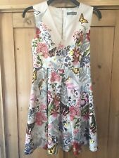 NWOT Oasis Floral Multicoloured Occasion Dress UK 10 Butterfly