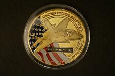 F-35 Lightning II - US Air Force -Department of Navy - Gold Plated Coin in Case.
