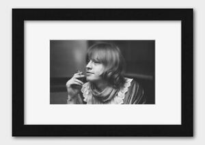 The Rolling Stones - Brian Jones at the Olympic Recording Studio May 1967 Print