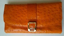 ROWALLAN OF SCOTLAND GENUINE LEATHER JEWELRY HOLDER PURSE/ ORANGE COLOR orig.$85