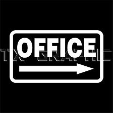 Office Direction Vinly Decal Business Sign Office Sign Door Window Wall