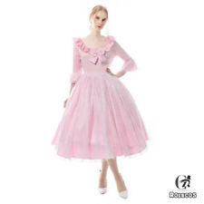 Classic Lolita OP Dress Pink Black 3/4 Sleeve Lace Wedding Bridesmaid Dresses