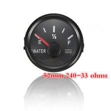 "2"" Water Liquid Level Gauge Meter 240-33 ohms For Marine W/ Backlight 9-32V Red"