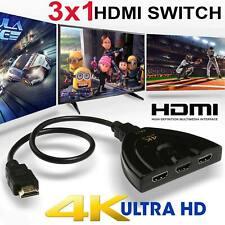 3 Port HDMI 1080P/4K Switcher Switch Splitter For HDTV DVD Blu-Ray Xbox 360 PS3