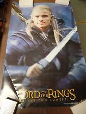 """Lord of the Rings Two Towers Legalos with Sword 22x34"""" Original Poster P12"""