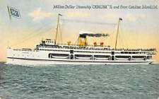 Catalina Island California Steamship Antique Postcard K26629