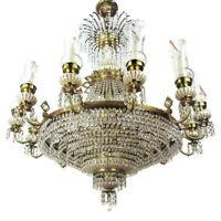 Huge Impressive Wedding Chandelier Beaded Basket Crystal Prisms  22 Lights WOW