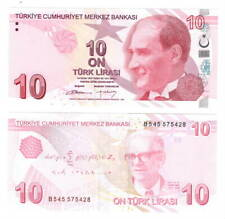 TURKEY 10 Lira (2009) P-223 Banknote Paper Money