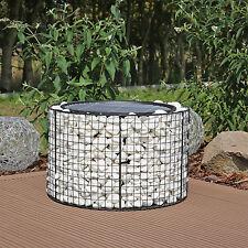 Gartengrill Gabione Feuerschale Grill Feuerkorb mit Grillrost für den Garten