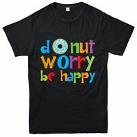 National Donut Day T-Shirt, Donut Worry Be Happy Tee Top