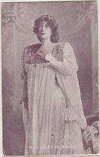 MISS VIOLET VANBRUGH English Actress Dress Vintage PC Scarborough 1905