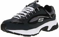 Skechers Mens Cutback 51286 Low Top Lace Up Running, Navy/Black, Size 9.0 fvcf