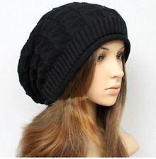 Women Men Unisex Knit Chic Black Rasta Baggy Ski Winter warm beanie Hat Cap