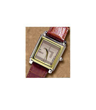 VINTAGED SWISS ARMY ST JOHN WOMANS WATCH TWO TONE BROWN LEATHER BRACLET # 96200