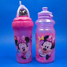 DISNEY ZAK MINNIE MOUSE LOOPITY LOOP DRINK CUP TUMBLER JUICE WATER SPORT BOTTLE